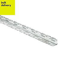 Galvanised steel Angle bead (L)3m, Pack of 10