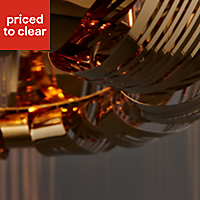 Kory Etched Gold plated effect Ceiling light