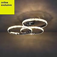 Aura Brushed Chrome effect 3 Lamp Ceiling light