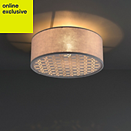 Colours Pierre Silver effect Light shade (D)320mm