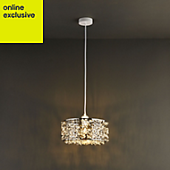 Colours Katarina Chrome effect Cutout & crackle Light shade (D)320mm