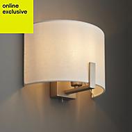 Westbourne Ivory Nickel effect Single wall light