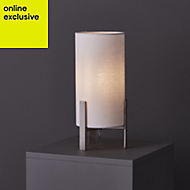 Colours Westbourne Matt Ivory Nickel effect Incandescent Table lamp