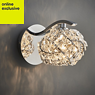 Emelia Chrome effect Single wall light