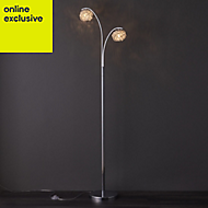 Colours Emelia Chrome effect Incandescent Floor lamp
