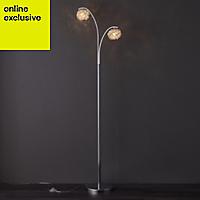Colours Emelia Chrome effect Incandescent Floor lamp