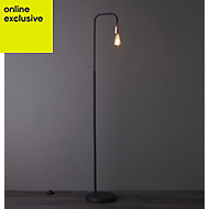 Colours Detroit Black & copper Incandescent Floor lamp