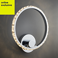 Aura Chrome effect Single wall light