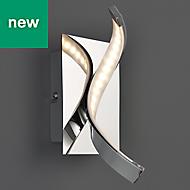 Spiral Polished Chrome effect Living room Wall light