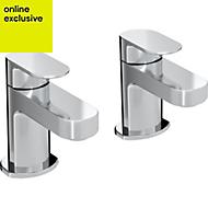 Bristan Frenzy 2 Lever Standard Bath pillar taps