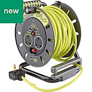PRO XT 2 socket Cable reel, 25m