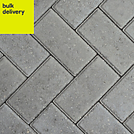 Grey Europa Block paving (L)200mm (W)100mm, Pallet of 404