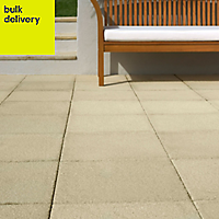 Buff Textured Paving stone (L)600mm (W)600mm, Pallet of 20