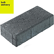 Charcoal Driveway block (L)200mm (W)100mm, Pallet of 488