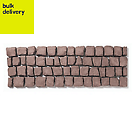 Rustic red Carpet stone Straight Pallet of 30 1.2m (W)400mm