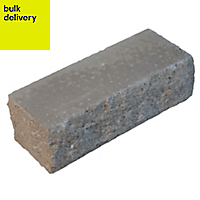 Pitched Grey Double-sided Walling stone (L)215mm (H)63mm (T)90mm
