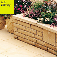 Pitched Buff Walling stone, (L)215mm (W)63mm (T)90mm