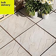 Grey Derbyshire Single paving slab (L)450mm (W)450mm