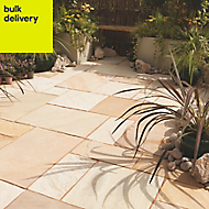 Fossil buff Paving (L)600mm (W)600mm Pack of 40, 14.9 m²