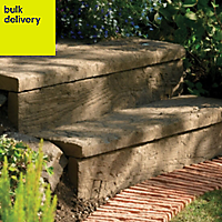 Traditional Stonewood Paving edging Antique brown, (L)600mm (T)40mm Pallet of 29