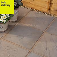 Derbyshire Brown blend Paving slab (L)450mm (W)450mm, Pack of 76