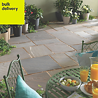 Natural Sandstone Rustic grey Paving set 18.83m²