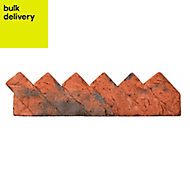 Traditional Sawtooth Paving edging Brindle, (L)550mm (H)140mm (T)100mm Pallet of 30