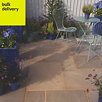 Colonial brown Paving set 17.86m², Pack of 48