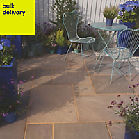 Colonial brown Paving set 18.15m², Pack of 96