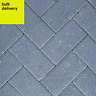 Charcoal Europa Block paving (L)200mm (W)100mm