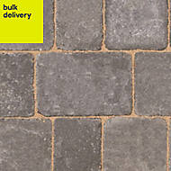 Graphite Woburn Rumbled Block paving (L)134mm (W)134mm, Pallet of 504
