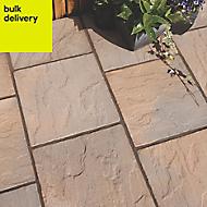 Brown blend Derbyshire Single paving slab (L)450mm (W)450mm