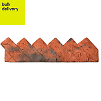 Sawtooth Traditional Single sided Brindle red Paving edging (H)140mm (W)550mm (T)100mm