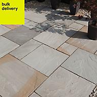 Rustic grey Natural Sandstone Single paving slab (L)600mm (W)600mm