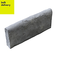 Old town Traditional Single sided Weathered grey Paving edging (H)200mm (W)450mm (T)50mm