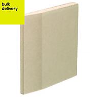 Gyproc Standard Tapered edge Plasterboard, (L)1.8m (W)0.9m (T)12.5mm