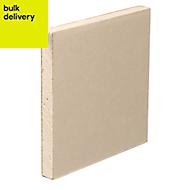 Gyproc Standard Square edge Plasterboard, (L)2.4m (W)1.2m (T)12.5mm