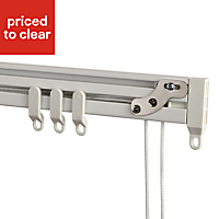 Contour Corded White Fixed Curtain track, (L)2.7m