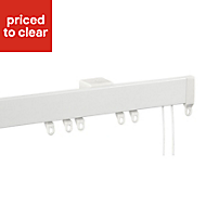 Contour Corded White Fixed Curtain track, (L)4m