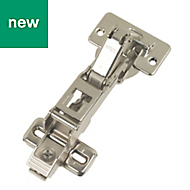 Nickel-Plated Steel Sprung Clip-On Concealed Hinges, Pack of 2