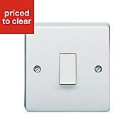 Crabtree 20A White Rocker Control switch