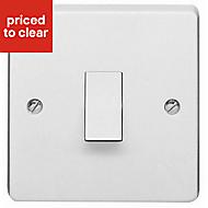 Crabtree 10A White Single Intermediate switch