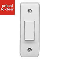 Crabtree 10A 2 way White Single Architrave Switch