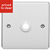 Crabtree White Cord outlet socket