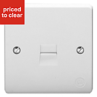Crabtree 1 gang Raised White Telephone socket
