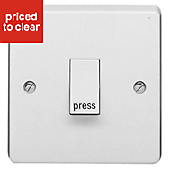Crabtree 10A 2 way White Single Switch