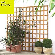 Traditional Timber Square Trellis panel (H)1.83m(W)1.2 m