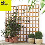 Traditional Timber Square Trellis panel (H)1.83m(W)0.6 m