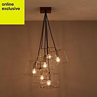 Jules Antique brass effect 6 Lamp Pendant Ceiling light