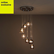 Lilie Chrome effect 7 Lamp Pendant Ceiling light
